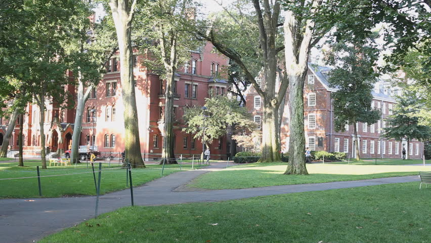 Historic Buildings And Grounds Of Harvard Yard Part Of The Harvard University Campus