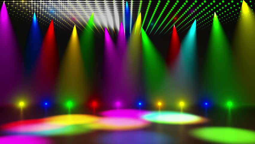 disco stage dance floor colorful vivid lights flashing stock footage