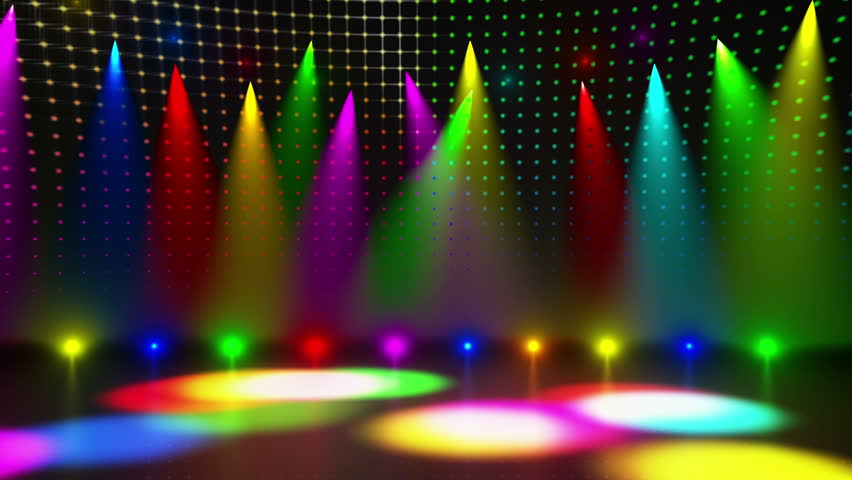 Disco Stage Dance Floor Colorful Vivid Lights Flashing ...