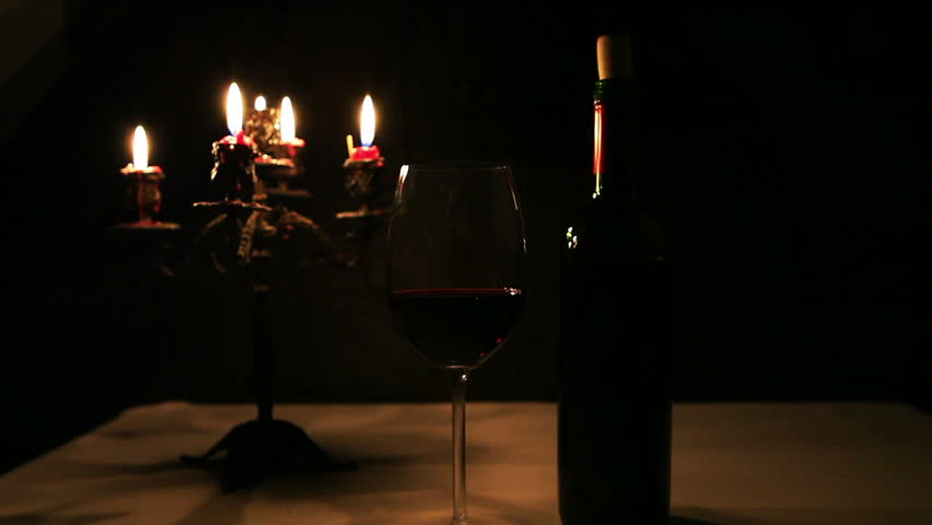 Romantic night bottle of red wine glass with candles Best candles for romantic night