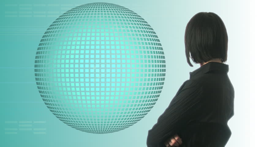 Woman looking at Graph  - HD stock video clip
