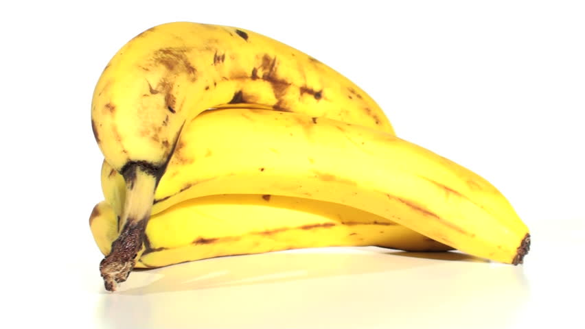 Banana against white - HD - HD stock footage clip