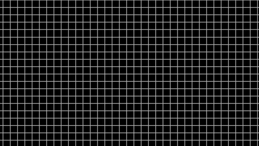 2D white line squares grid randomly flip over | Shutterstock HD Video #3257374