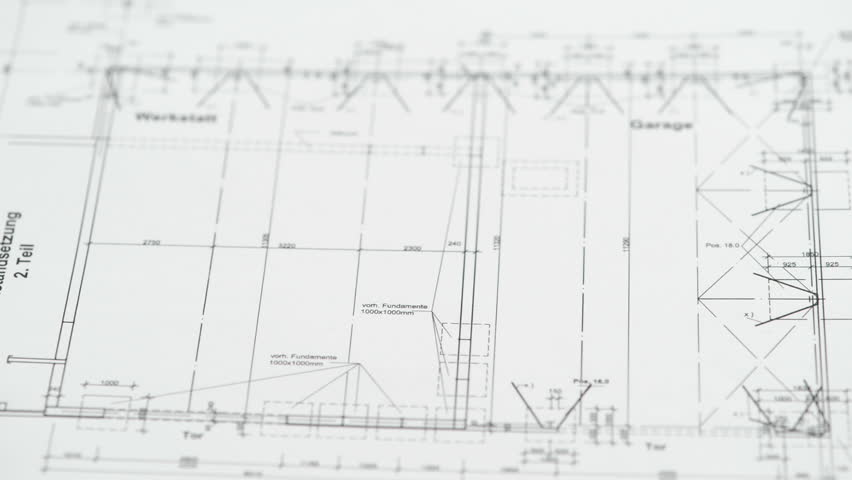 Pricing An Architectural Drawing Blueprint With Dividers