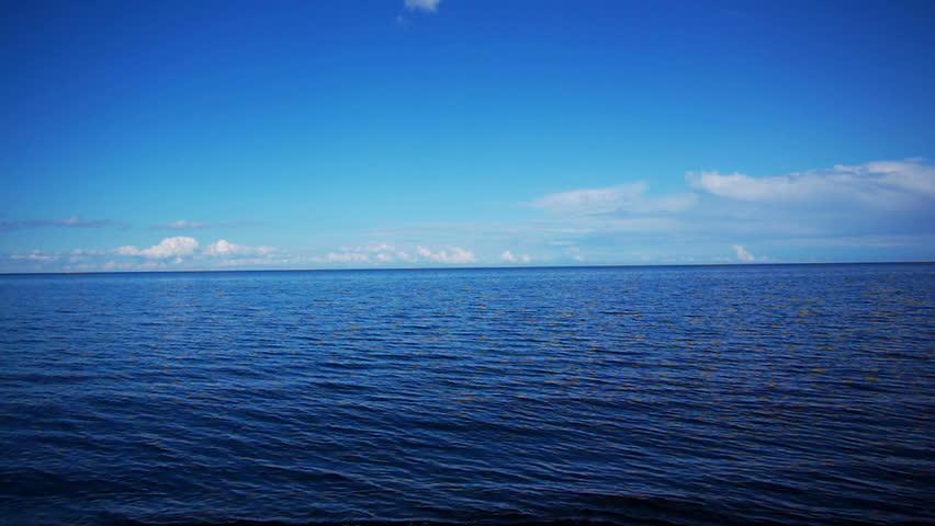 Sea view to horizon high definition video