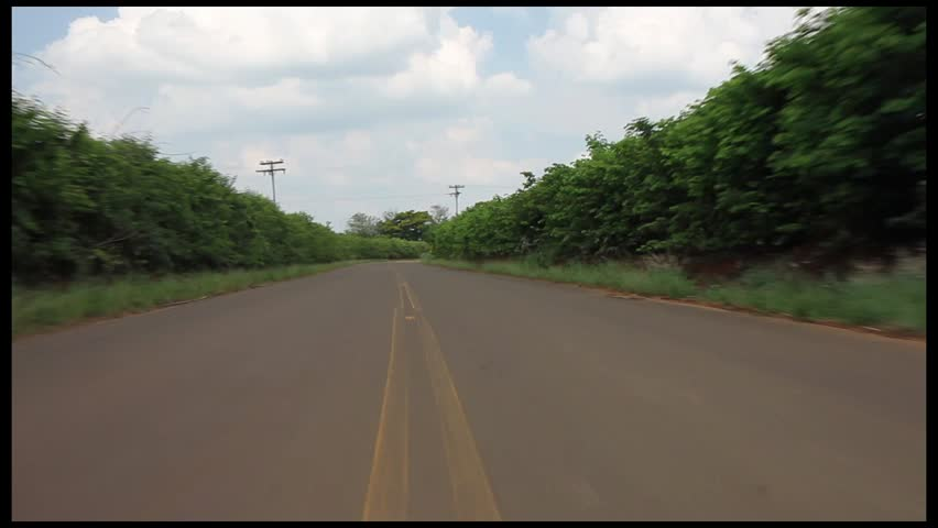 pov of a countryside road - HD stock video clip