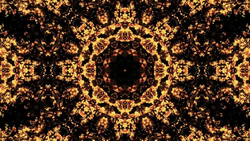 HD - A pulsing kaleidoscope of fall foliage (Loop).