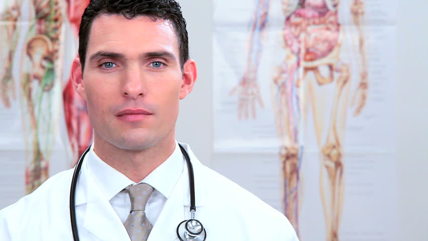 Male medical student in clinical training - HD stock video clip