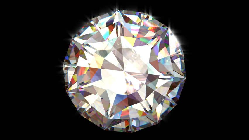 Seamless turning 3D Brilliant Diamond - HD stock video clip