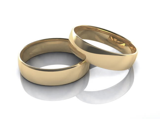Wedding rings - SD stock video clip