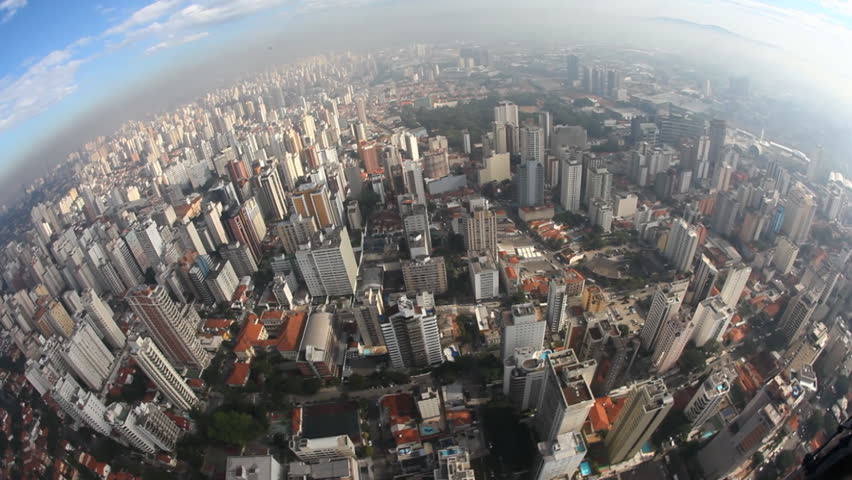 Aerial view from big city