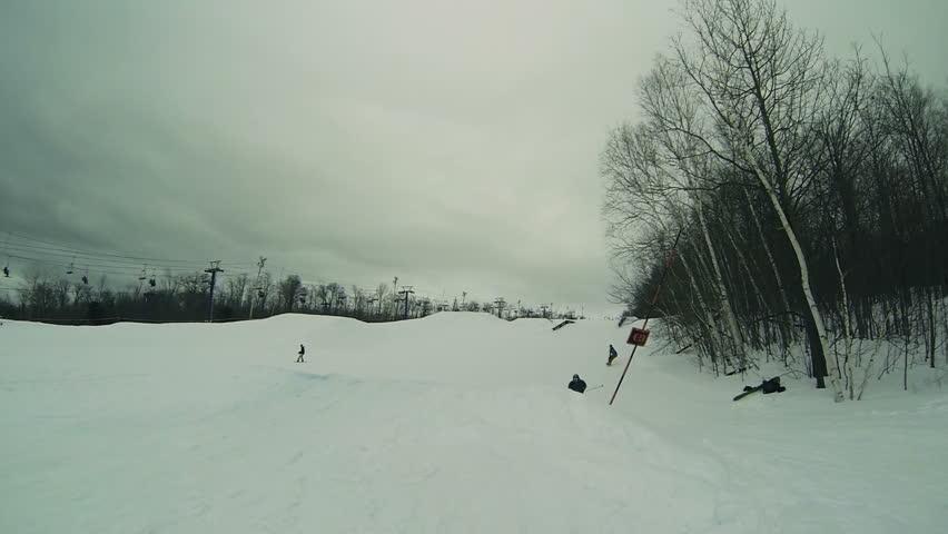 Extreme Skier On Big Jump