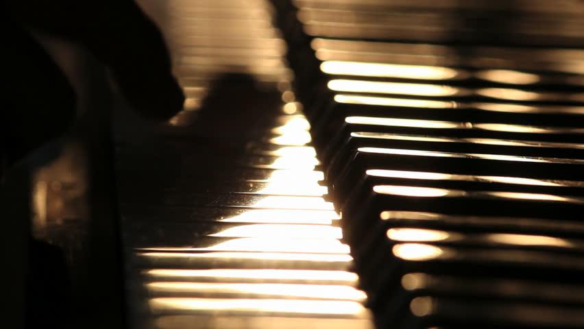 Piano close up shot 3