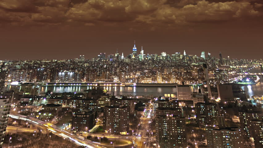 New York City motion tracking timelapse