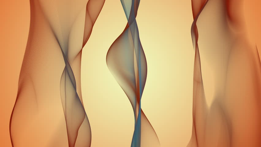 wonderful video animation with moving wave object, loop HD 1080p