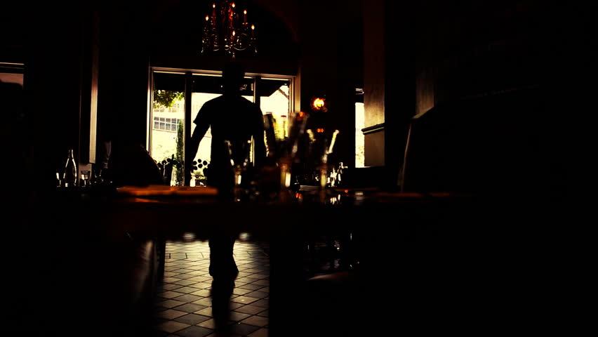 Sepia Inside Silhouette Cafe