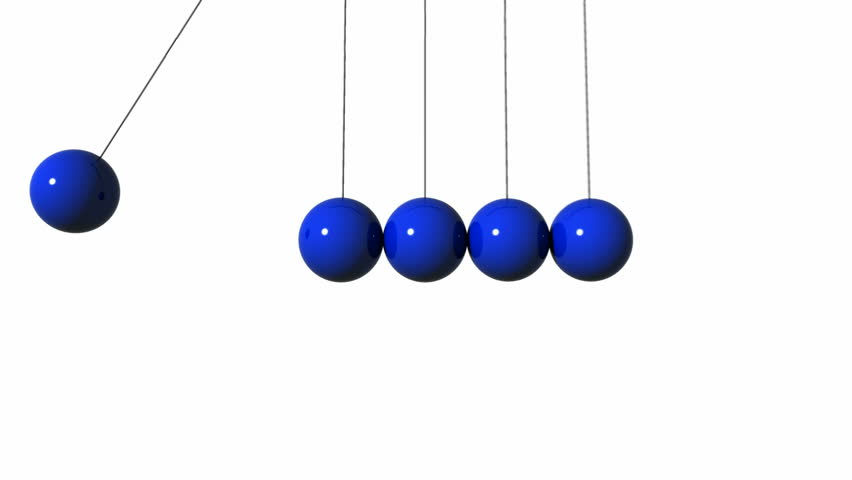 Animation Of Newton's Cradle Over White Background ...