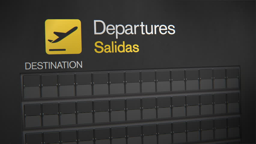 Departures Flip Sign: USA