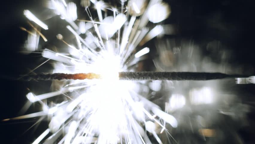 Lightening Christmas sparkler .