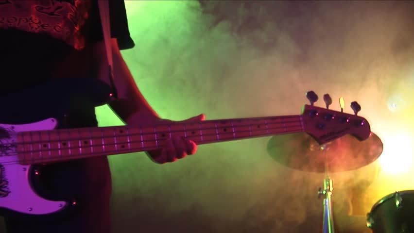 Guitar,drum.  Rock Concert. - HD stock footage clip