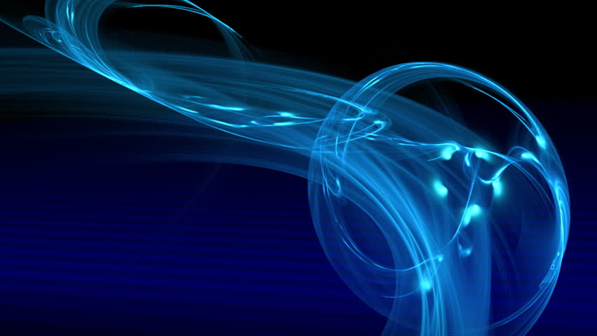 blue particle motion background. Loop - HD stock footage clip