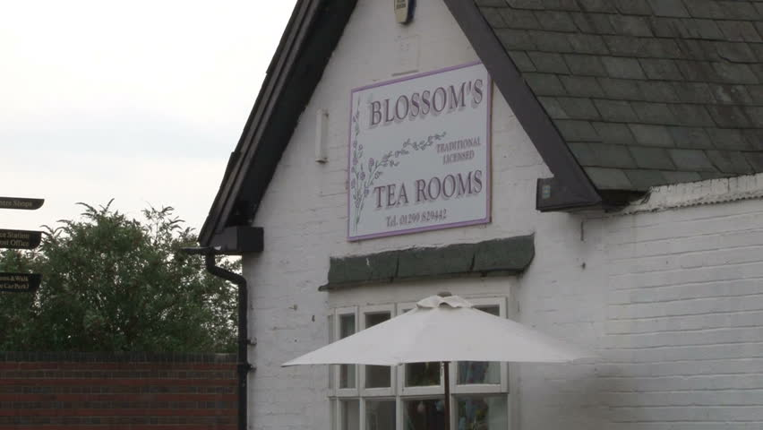 WORCESTERSHIRE, UK - CIRCA 2012:Blossoms Tea Rooms by the canal at Stourport-on-Severn. - HD stock footage clip