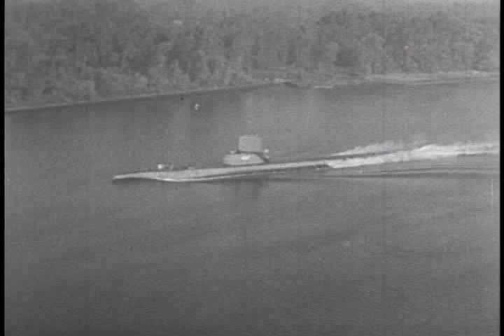 1940s - A Submarine Torpedo Attack In World War Two. Stock ...