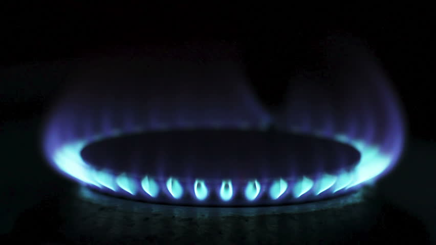 Ring of a gas stove in dark - HD stock video clip