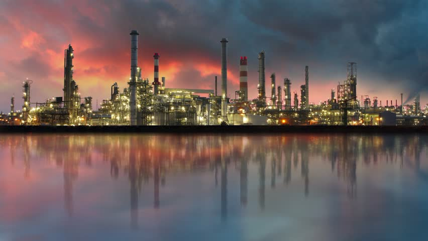Oil refinery - Industry plant - HD stock video clip