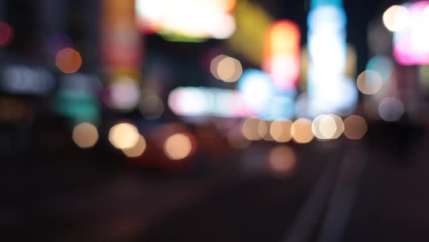 Times Square traffic in New York City blurred | Shutterstock HD Video #4014904