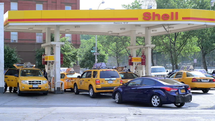 NEW YORK - JUNE 4: Shell Gas Station on June 4, 2013 in New York. Shell Oil Company is the United States-based multinational oil company which is amongst the largest oil companies in the world.