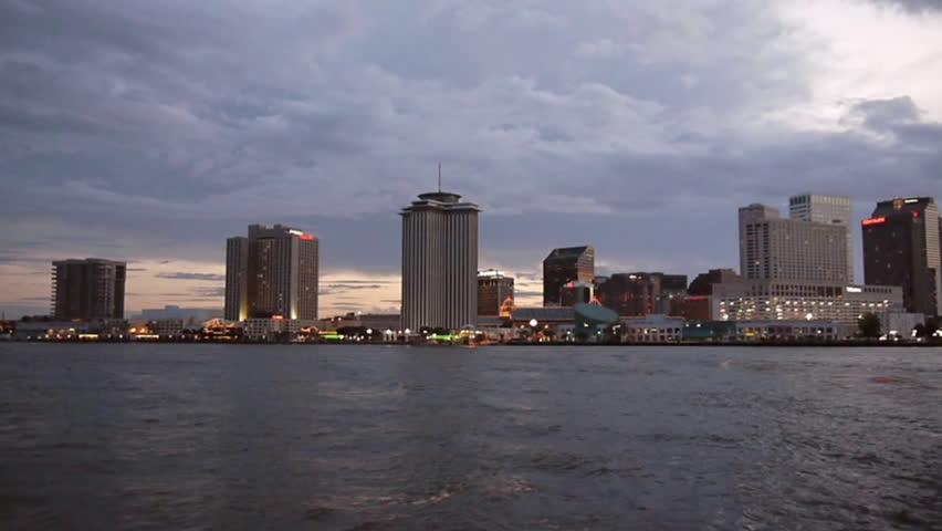 New Orleans, Louisiana -  June, 2011 - Medium shot of the New Orleans skyline.