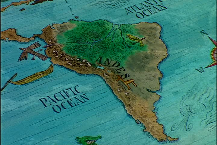 Animated Map Of South America Showing The Locations Of The Andes Mountains An