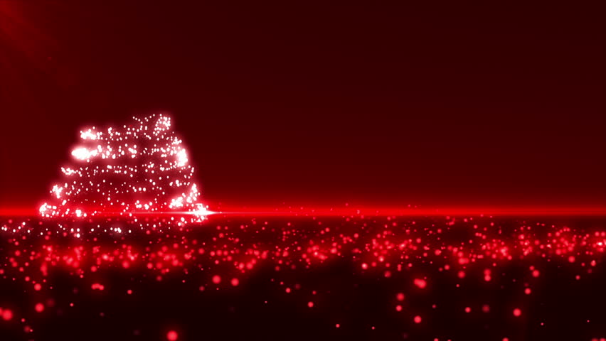 Christmas Tree Bilinking Shapes.Bokeh In Different Shapes. Stock ...