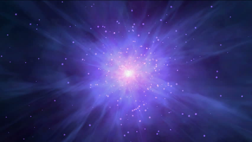 travel in space,flying nebula & rays laser in universe. - HD stock footage clip