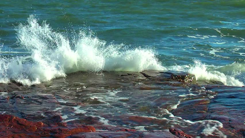 Waves and rocks - HD stock video clip