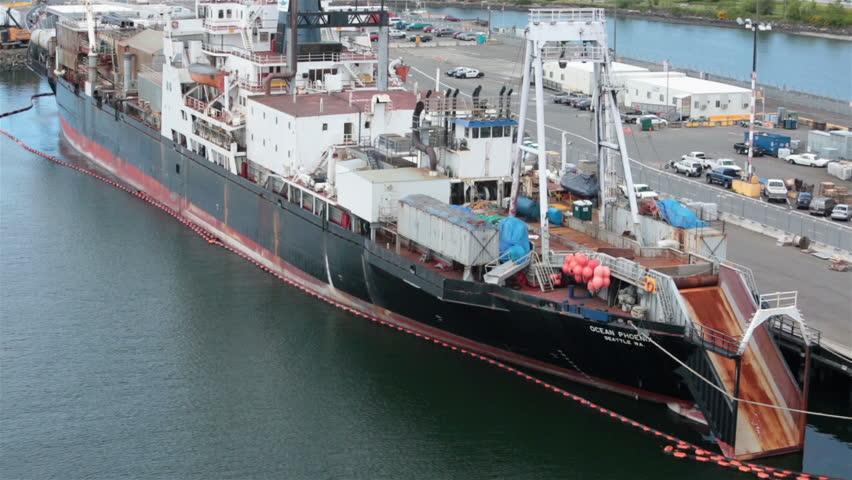 Fish trawler processing ship ocean phoenix seattle port for Fishing boats seattle