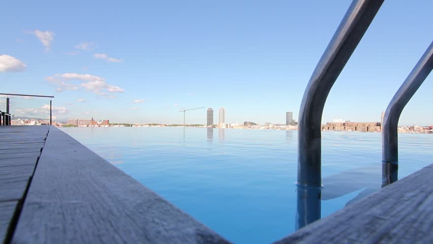 Infinity Pool Barcelona - HD stock video clip