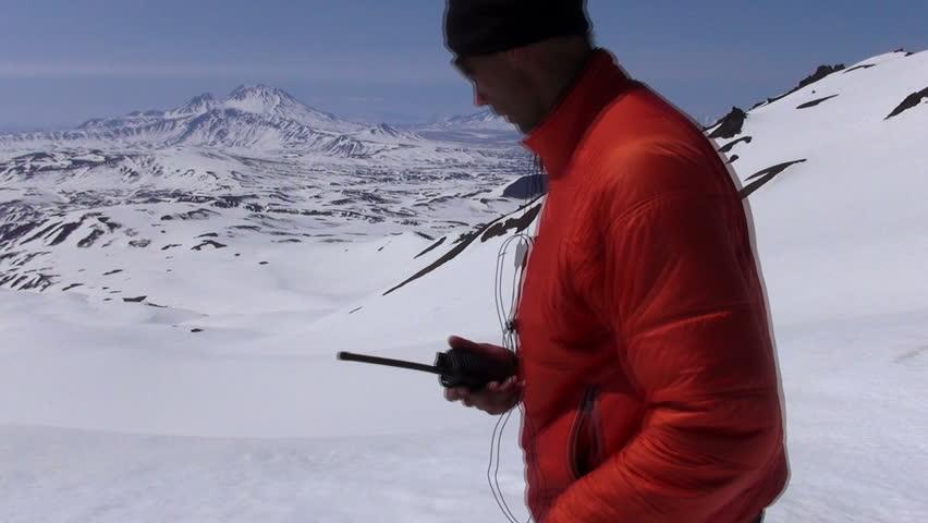 Climber says on the radio