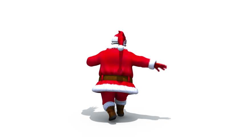 Santa clicks heels - loop - alpha matte