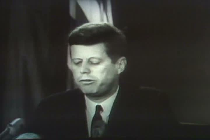 1970s - President Kennedy speaks about the Cuban Missile Crisis in 1962.