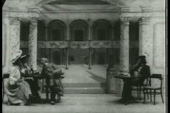 1900s - Silent film staged images of European travel in 1904.   Shutterstock HD Video #4097497