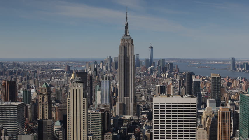 aerial view of empire state building nyc skyline new. Black Bedroom Furniture Sets. Home Design Ideas