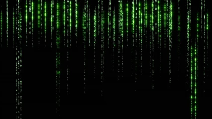 Data Stream Matrix - vertically scrolling numbers - HD stock footage clip