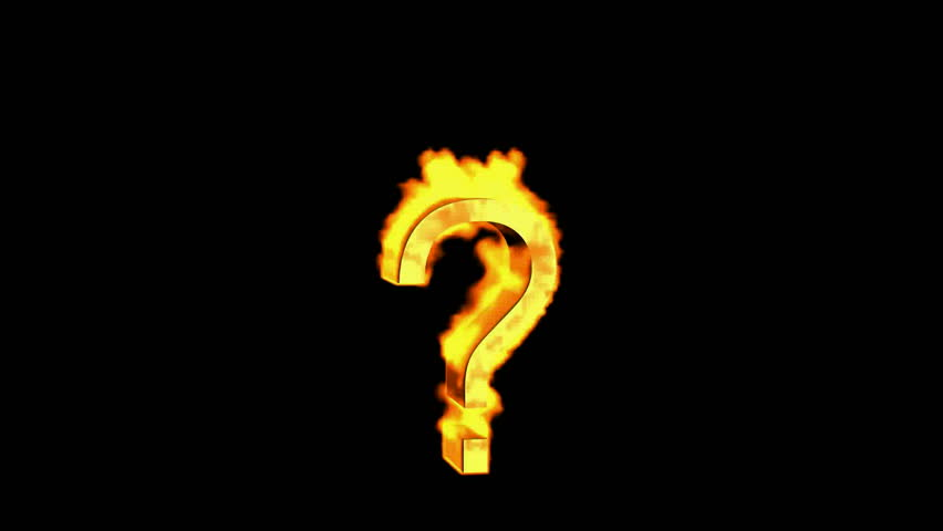 fire question mark  stock footage video 3279812
