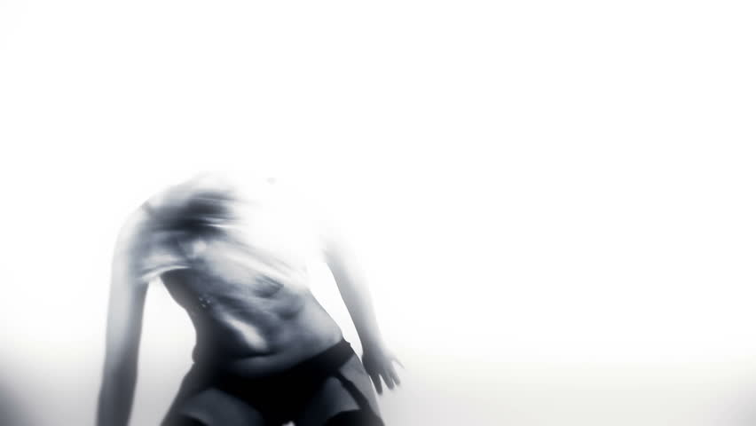 Sexual woman dancing - HD stock footage clip