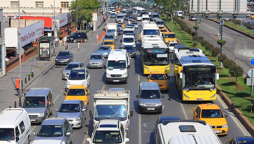 ISTANBUL - MAY 16: People in the city lose 118 hours on average stuck in traffic