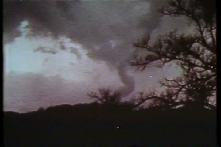 1970s - Tornado's hit the midwest in the 1970s - SD stock video clip