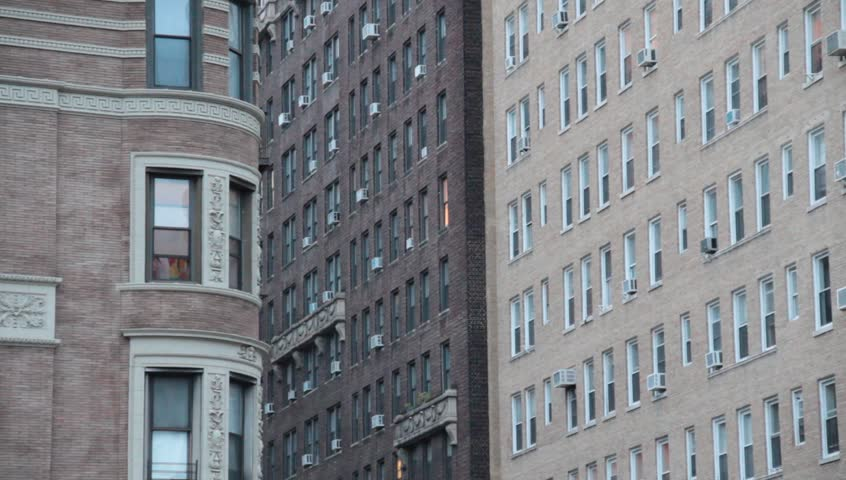 NYC Apartment Buildings On Upper West Side Stock Footage Video ...