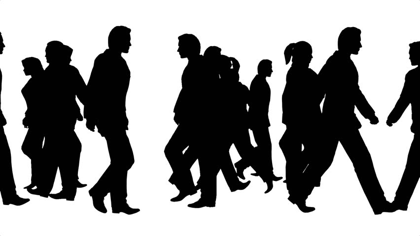 Group Of People Walking Silhouette Pictures to Pin on ...